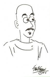 Stu Shiffman drawing of Randy Byers, 2005