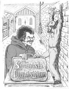 Ross Chamberlain's art for The Spanish Inquisition