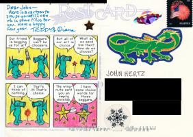 Teddy Harvia's art for Postcard to John Hertz