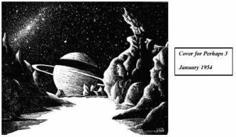 Ditmar's art for 'Perhaps 3' January 1954